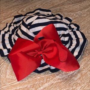 Mud pie infant hat sailor nautical stripe blue red
